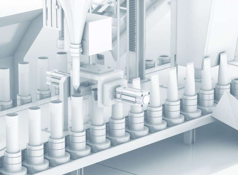 Biotech, pharmaceutical and cosmetics industry: cream production