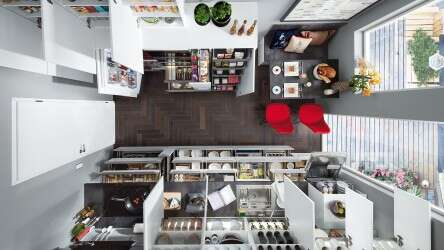 Kitchen from above.