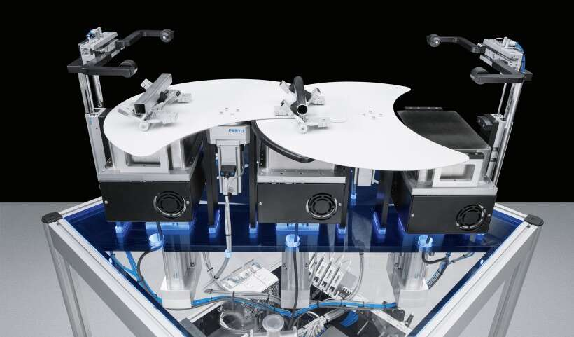 Festo SupraGripper: controlled transfer between conventional and levitating grippers