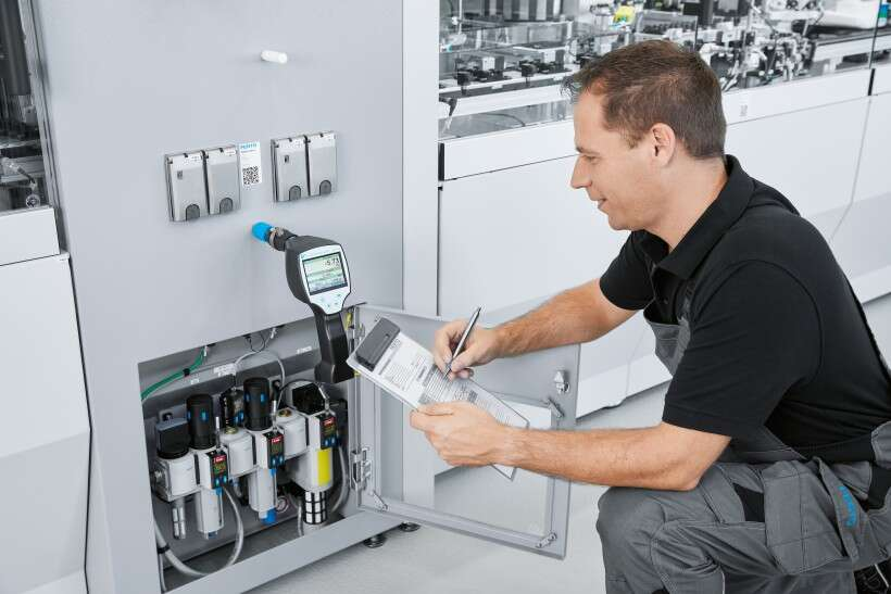 Festo Energy Saving Services: compressed air quality analysis