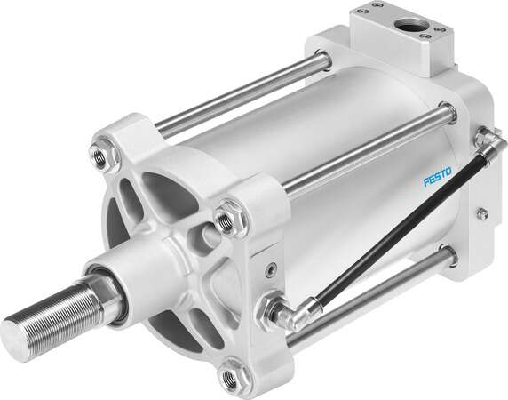 Linear drive with displacement encoder